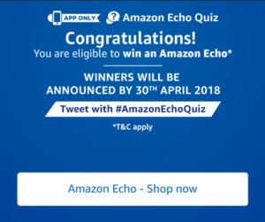 Amazon Echo quiz contest