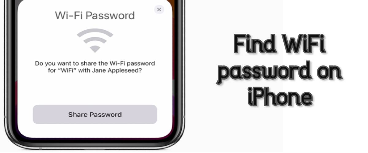 Find WiFi password on iPhone
