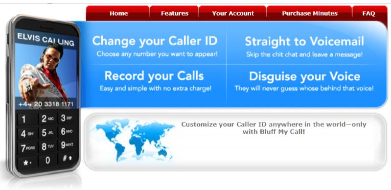 Bluff My Call call spoofing app