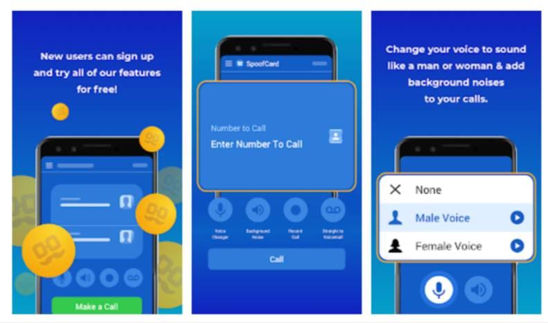 Spoofcard caller ID spoofing app